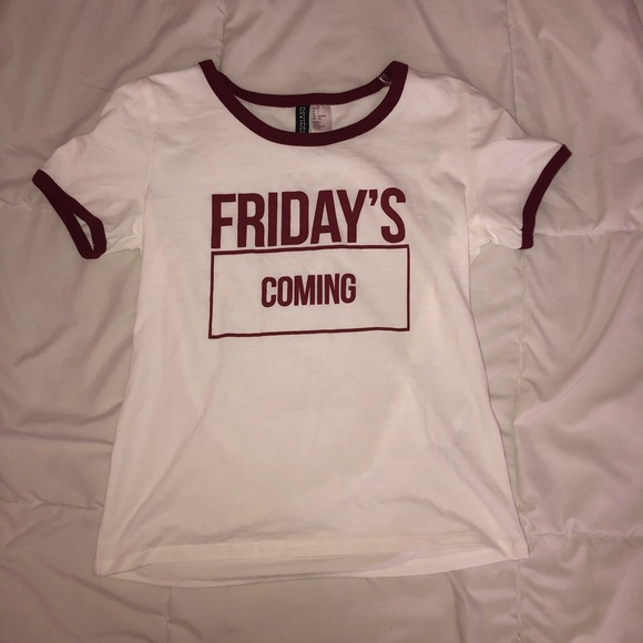 """H&M Tops - """"Friday's Coming"""" Tee"""